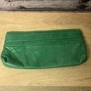 Lauren Merkin Green Leather Clutch NWT